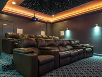 Attractive Basement Theater
