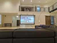 Projection Screen in Living Room