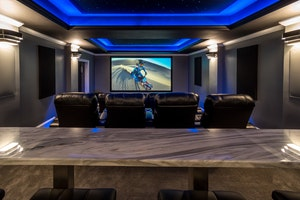 Projection Screen and Bar Top